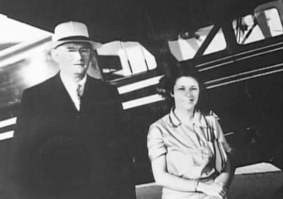 William D. Gann con la terza moglie Landi